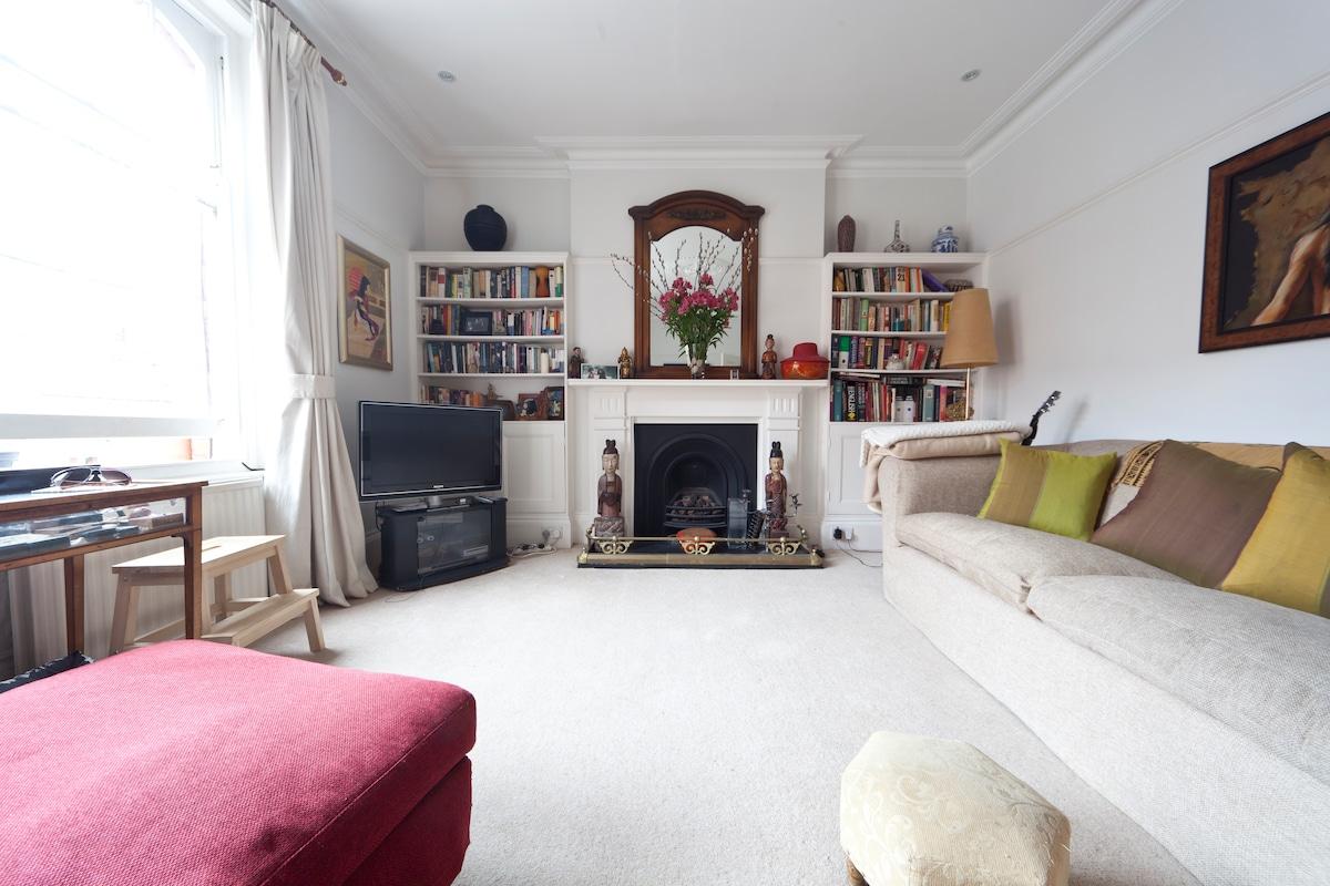A bohemian living room