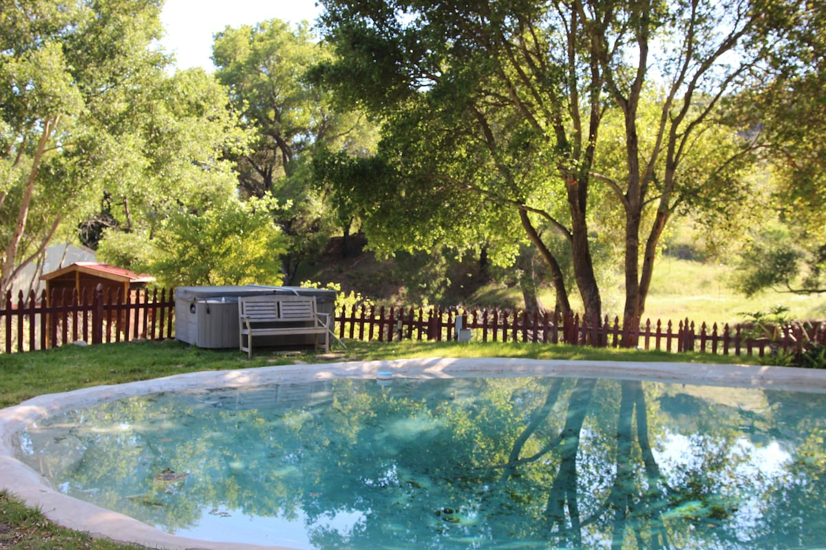 Pool and hot tub.. maintained weekly. Clean. Limited chemicals.