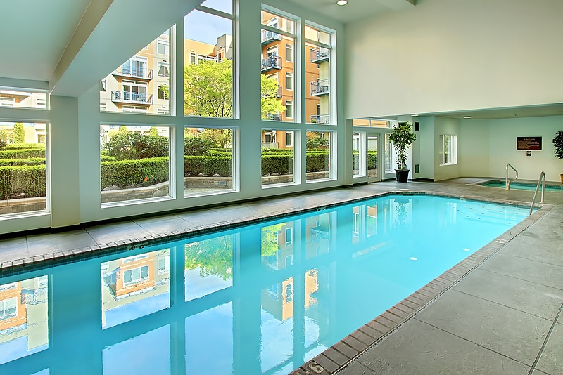 Pool, Hot tub and Sauna conveniently located just doors down from the condo!