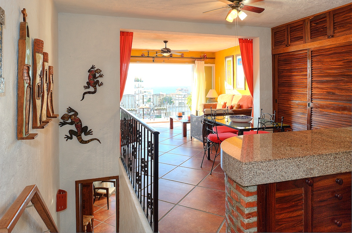 Spacious open concept.  Here's what you see when you first enter the condo.