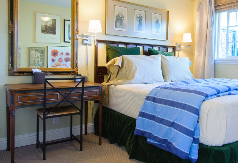 the perfect nights sleep in the most comfortable queen bed ever! it's covered with luxury linens and a duvet