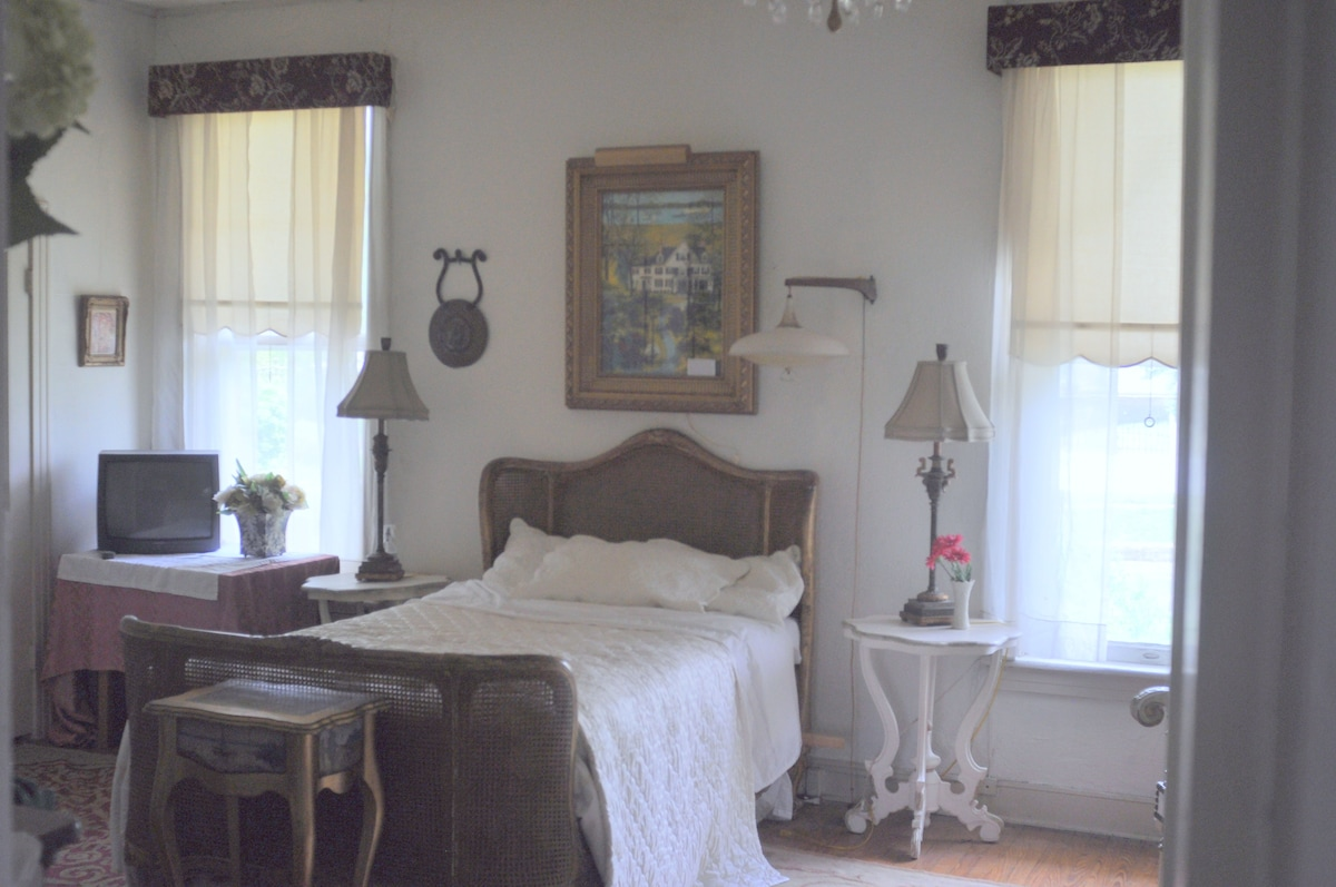 Master Bedroom - Queen bed, high ceiling & spacious