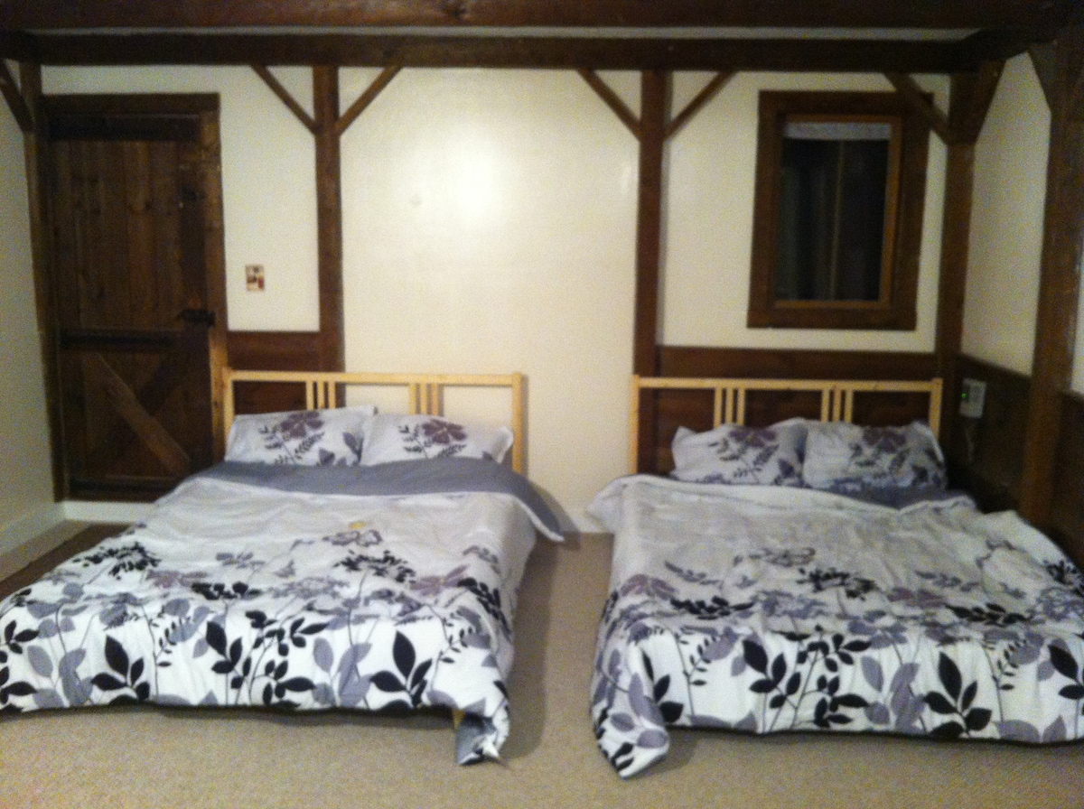 - 2-full size beds -