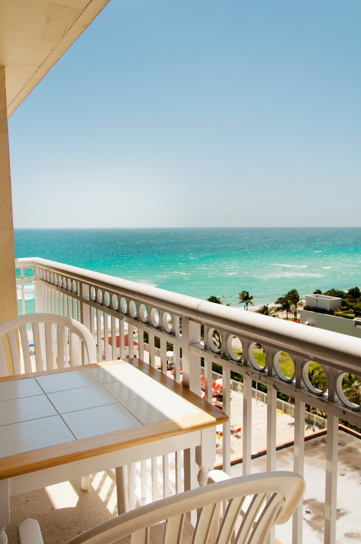 Amazing view  from your private balcony.