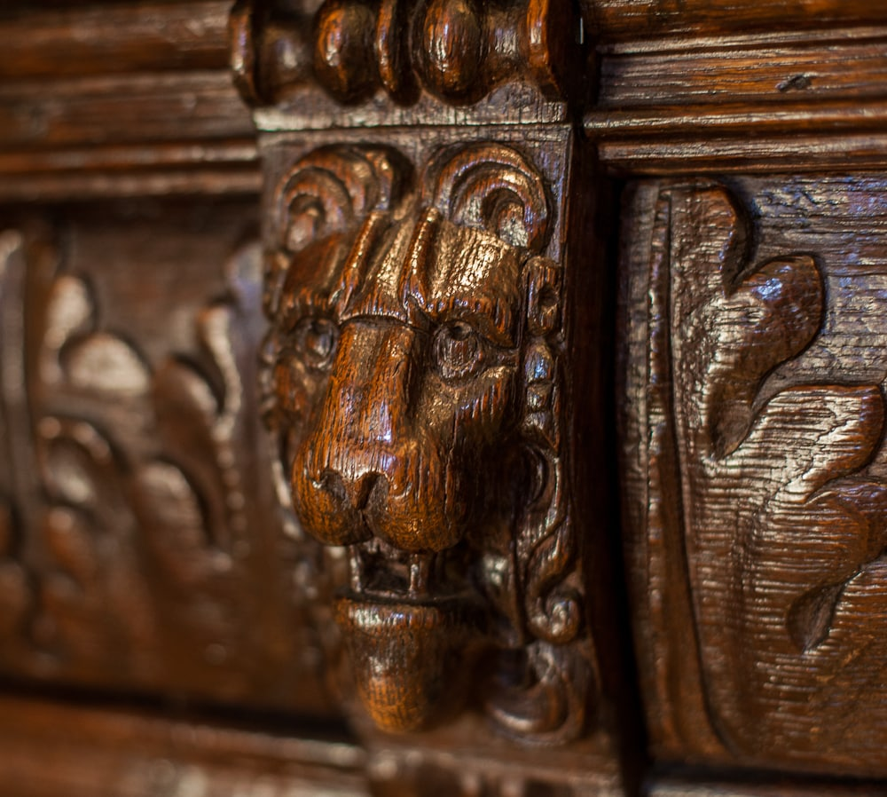 Details of the self over the wet bar. Fashioned from the top of an antique Spanish buffet.