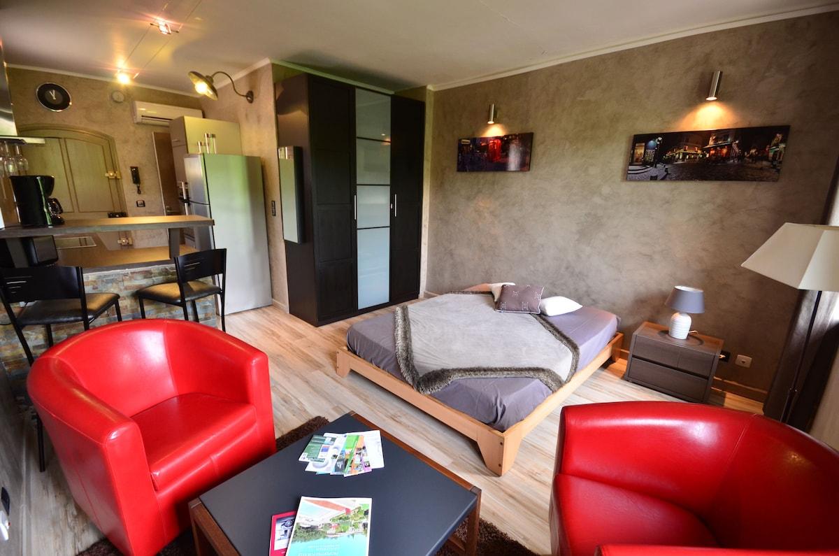 Studio moderne et confortable