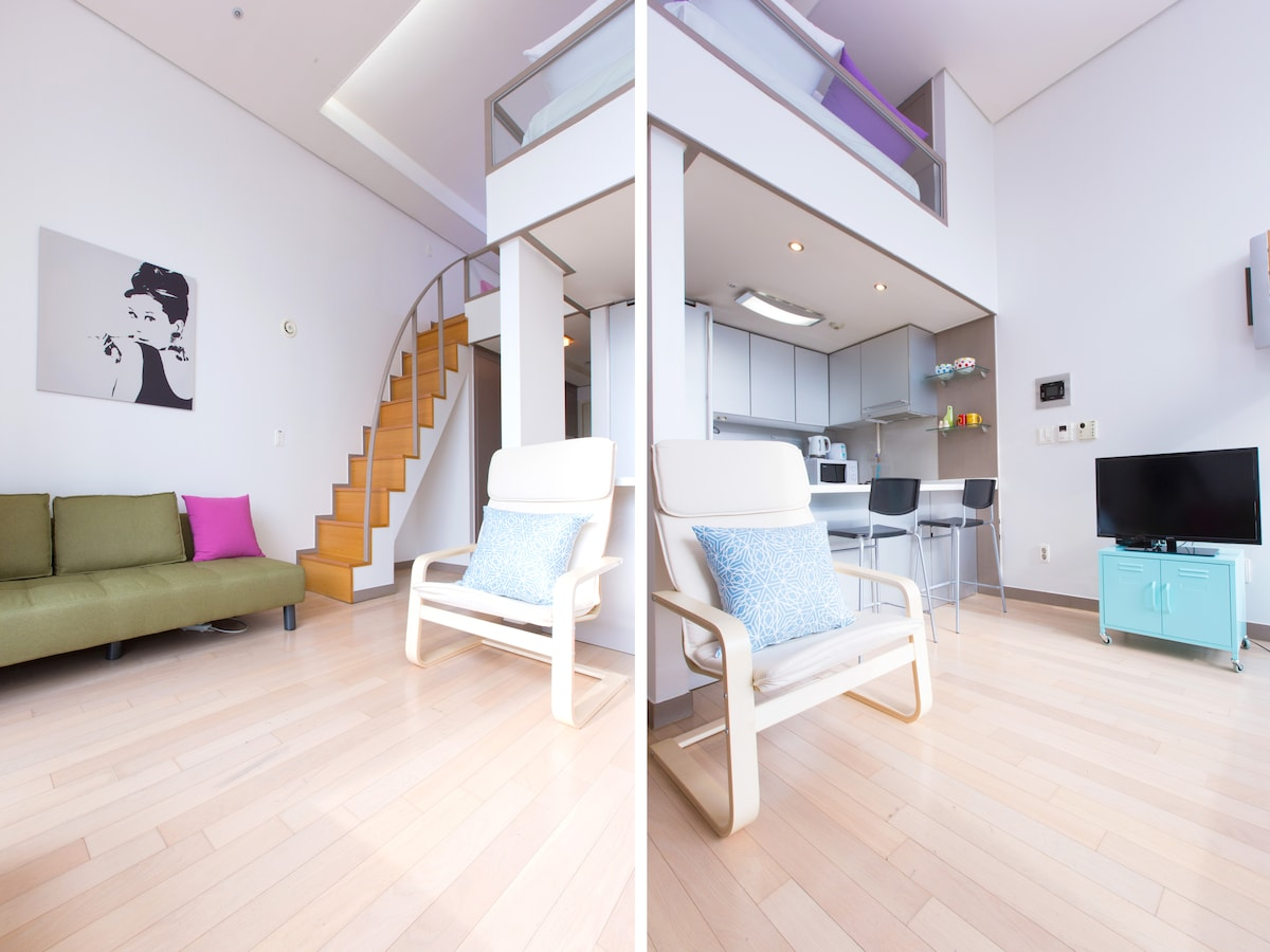 ★ Stylish Loft with view in center