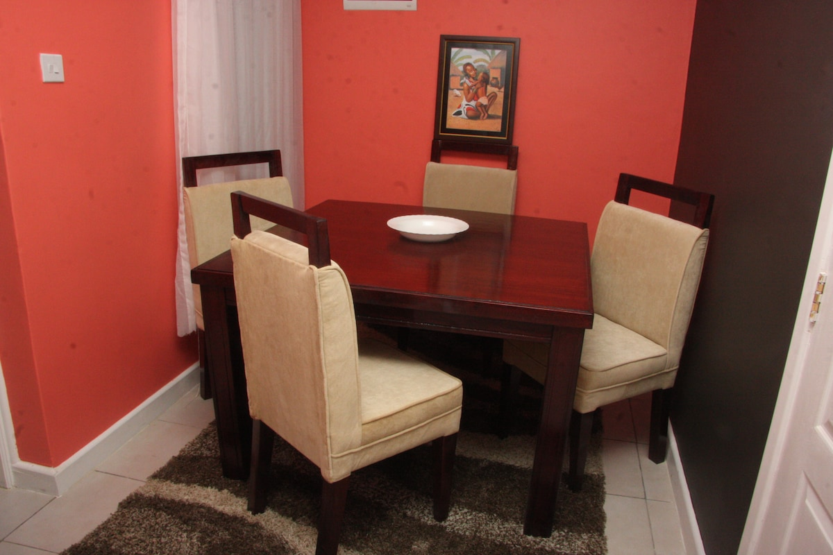 Dining Room opens up to the living room lounge