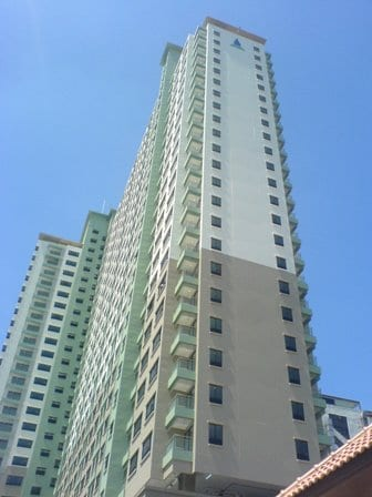 Outside view, condo 1 floor from the top