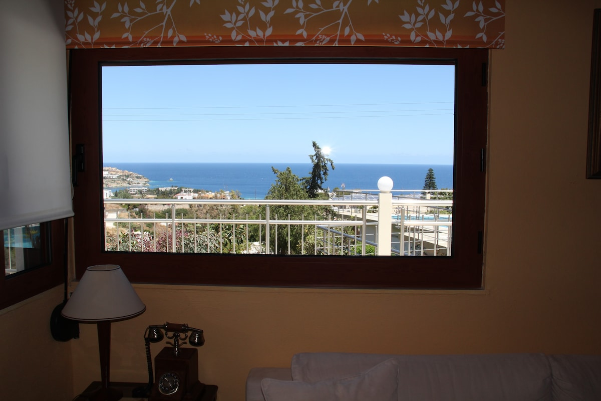 Sea view from the living room