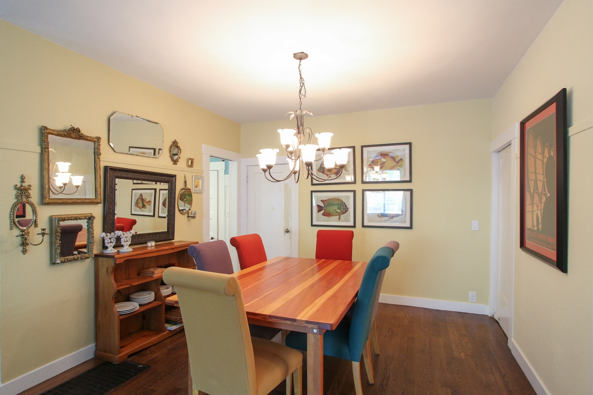 Dining room off the living room.