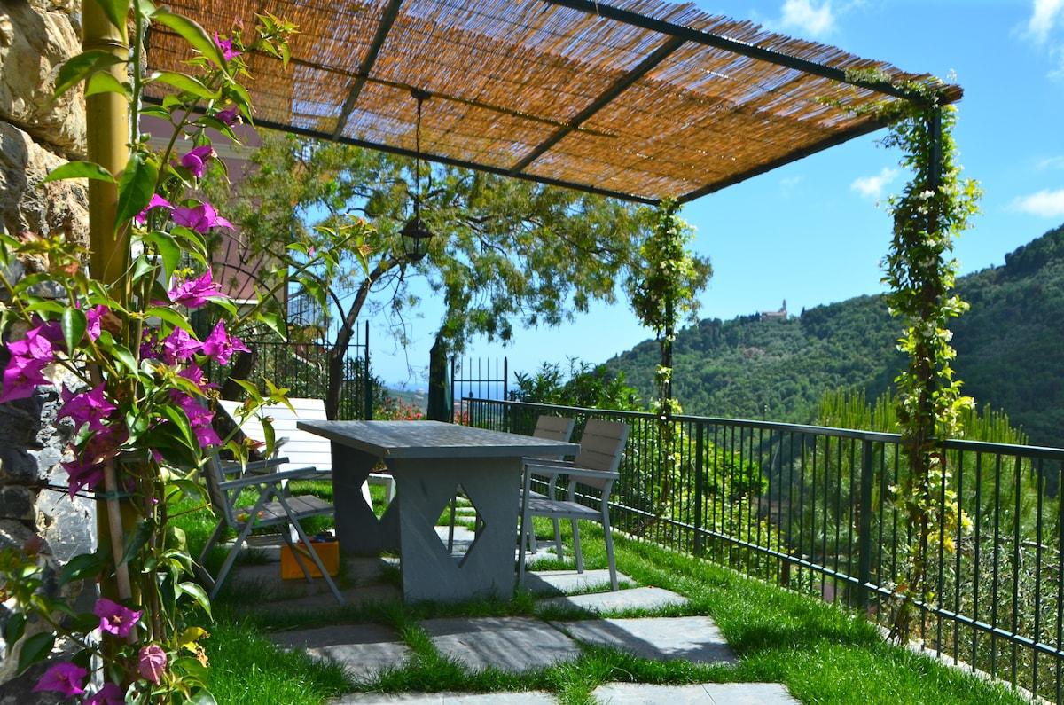 Attic fantastic view near Portofino