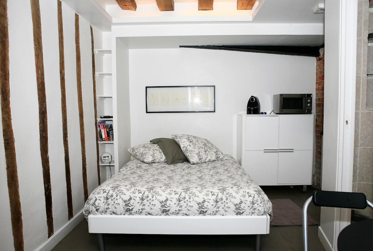 studio la gar onniere paris marais in paris. Black Bedroom Furniture Sets. Home Design Ideas