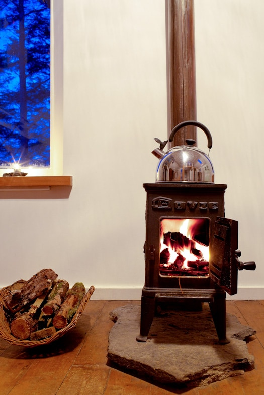 A cosy night in by the fire