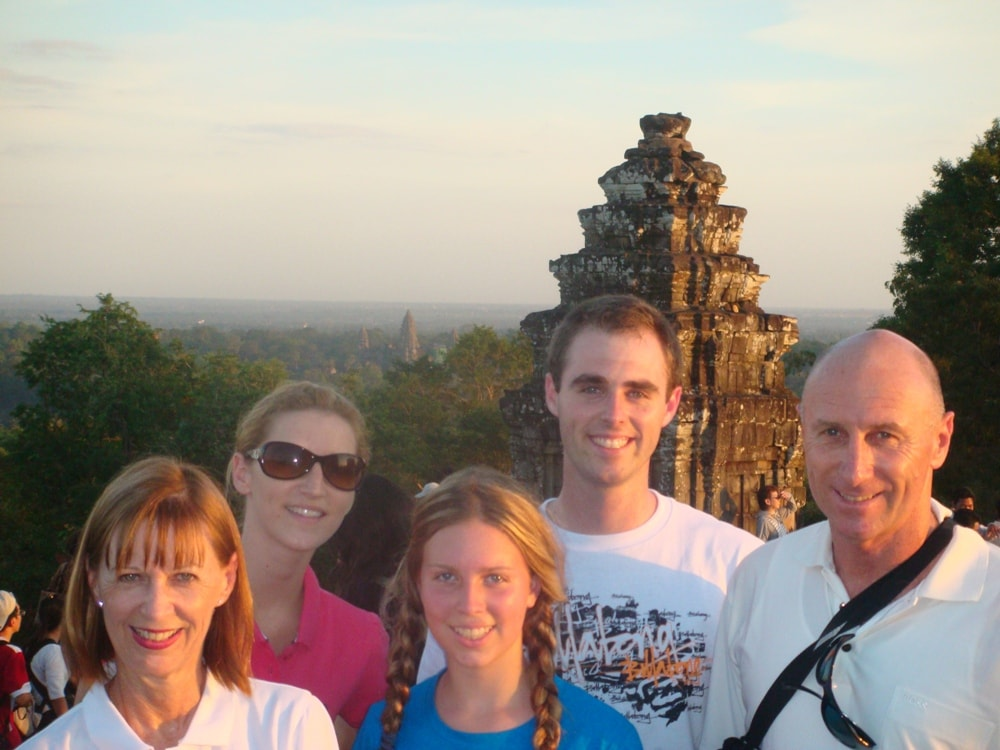Our happy guests at Phnom Bakheng for sunset
