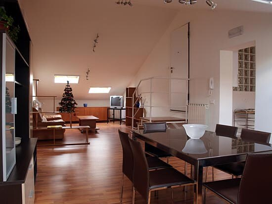 THE SPACEFULL AREA OF THE DINING-ROOM AND  LIVING-ROOM