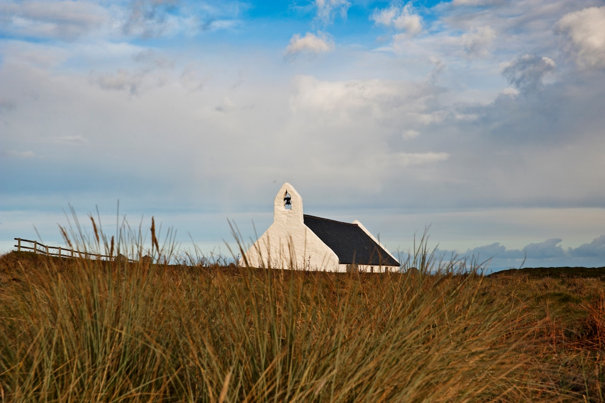 Ancient Mwnt church. This was along the route from Bardsley Island to St David's for pilgrims.