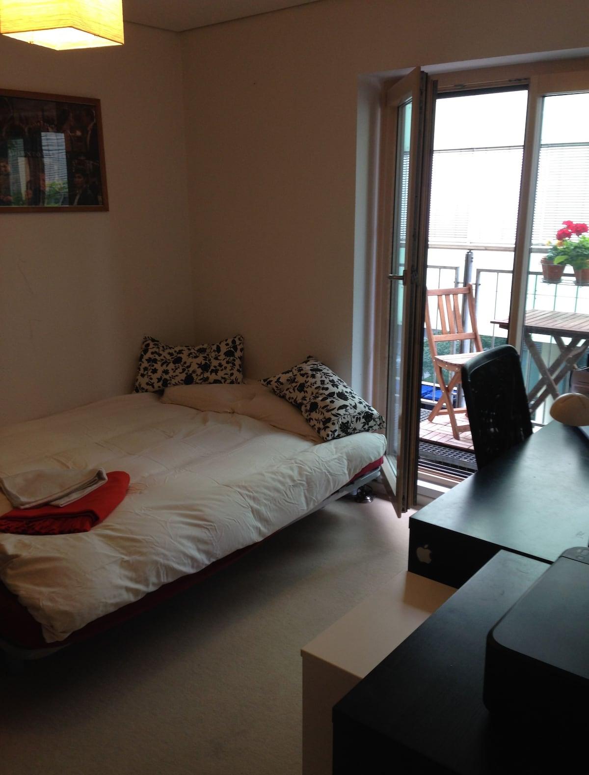 Nice double room,balcony & bathroom