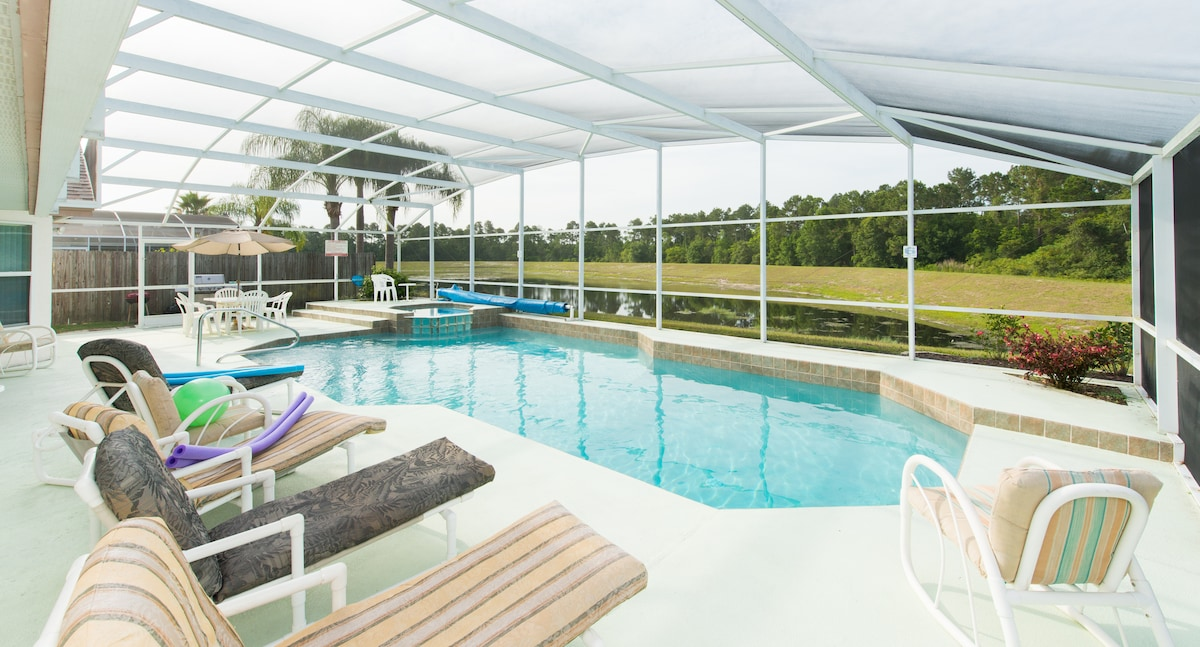 Secluded Pool Home, Close to Disney