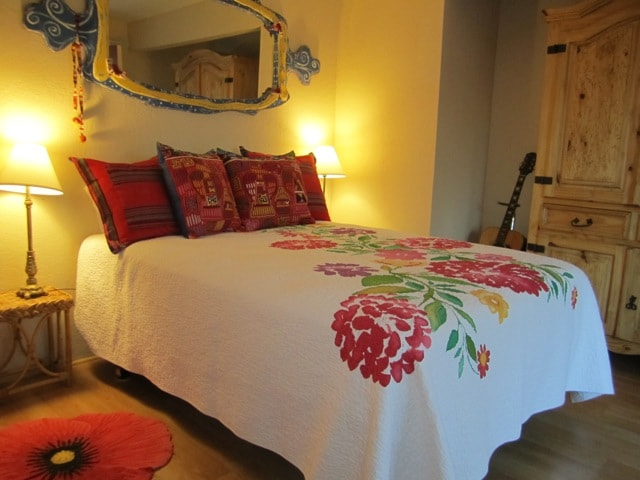 The Sweet too! room is colorful and cozy.