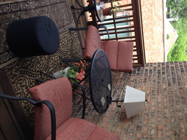 The private deck invites you to relax after a long day of sightseeing.