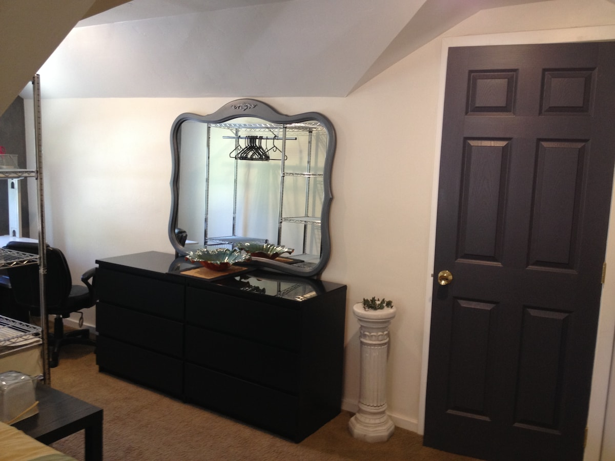 Lots of draws & hanging space for your clothes.