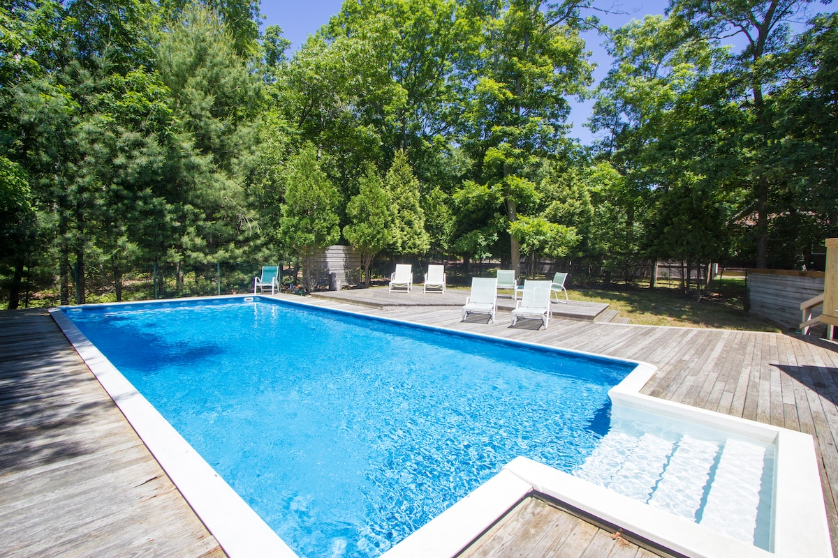 Outdoor pool and deck