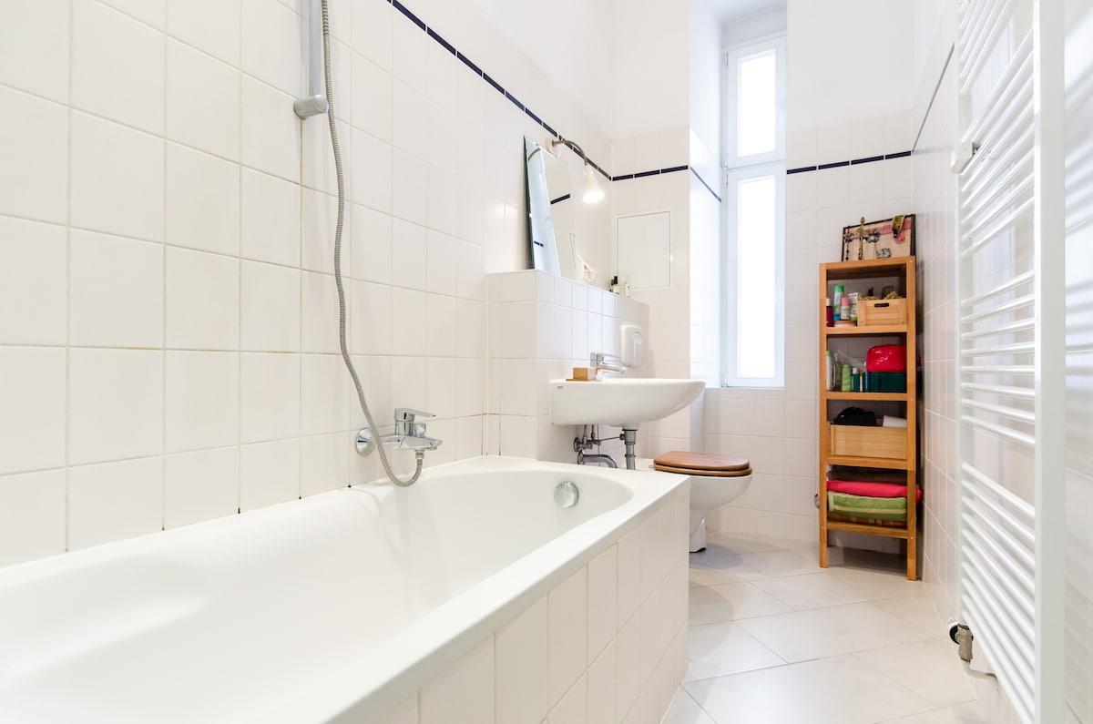 The shared bathroom