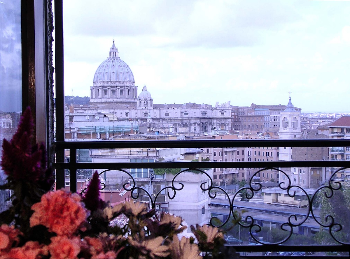 Panorama da finestra soggiorno/letto