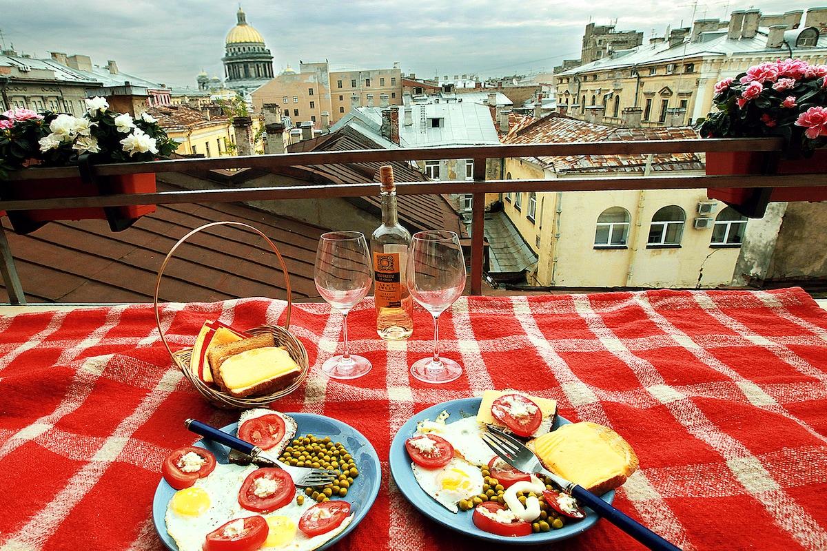 Романтический завтрак на террассе..   (Romantic Breakfast on my terrassa)