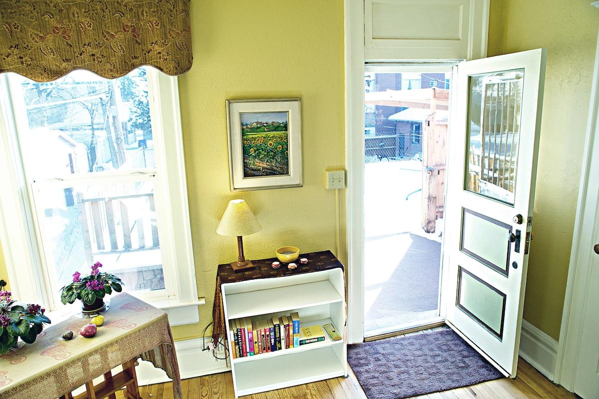 2nd Bedroom with entry door