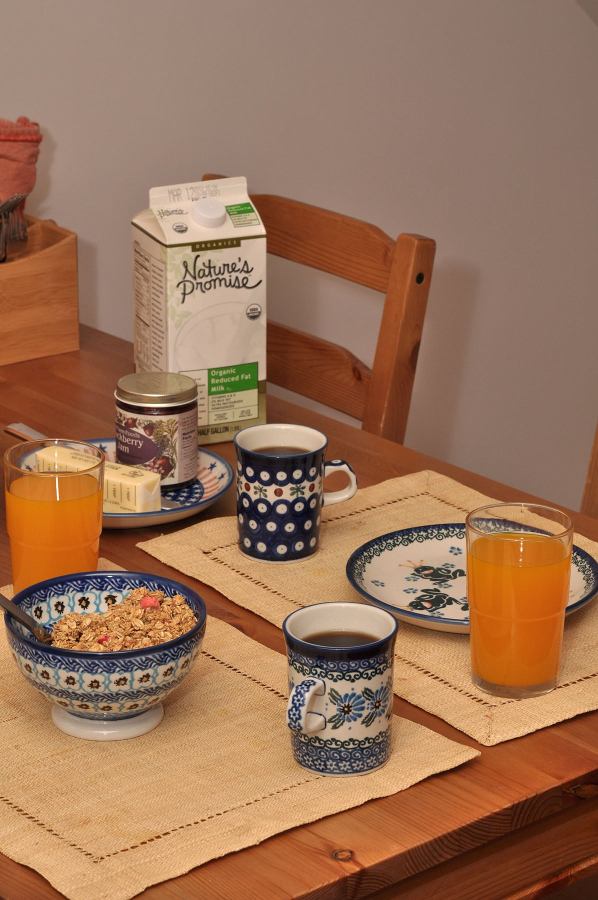 Enjoy self-service organic, fair trade continental breakfast in your room.