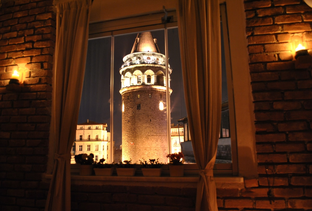 Galata Tower: Istanbul's most striking landmarks at your window.