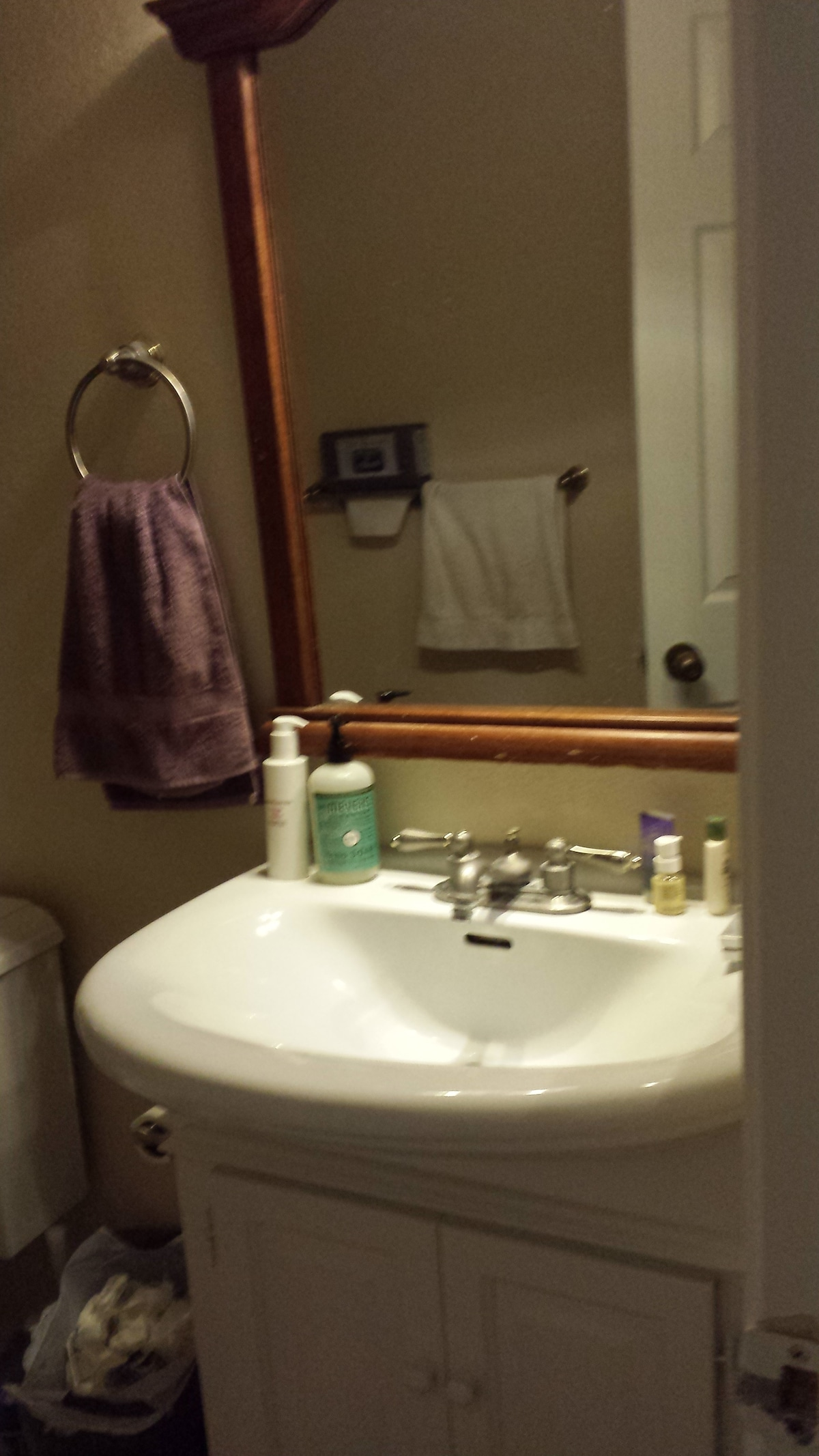 Sink and mirror shared with another roommmate