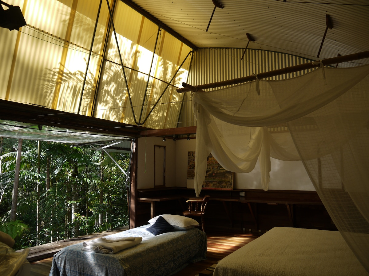 Our River Room has a king sized bed and a single suitable for a child