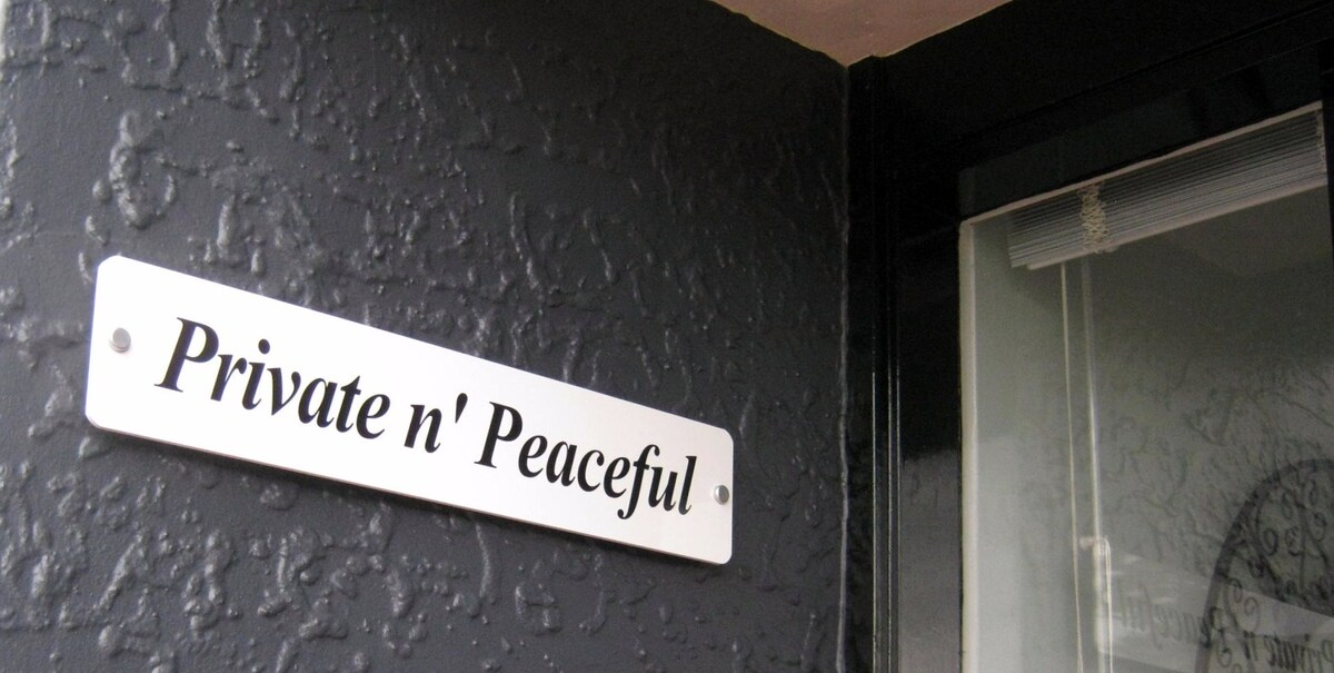 Your welcoming sign at Private n' Peaceful Parnell.
