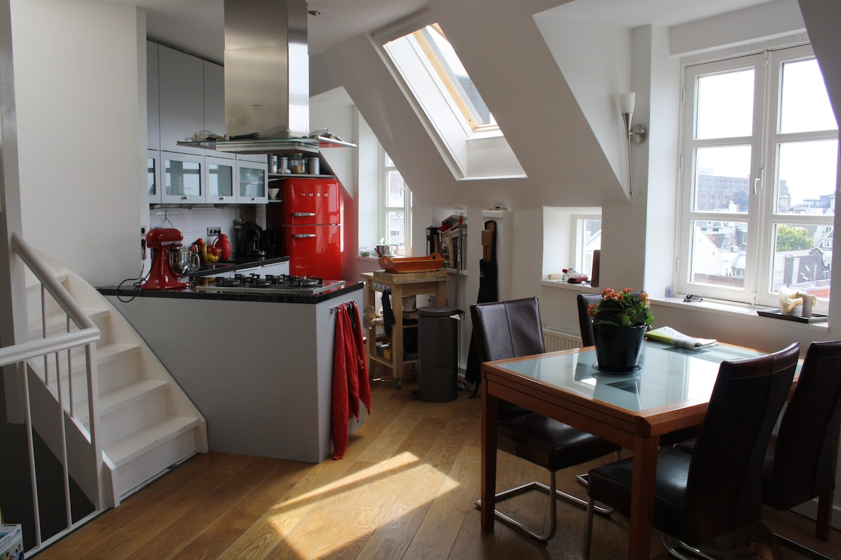 Canal side apartment w/roof terrace