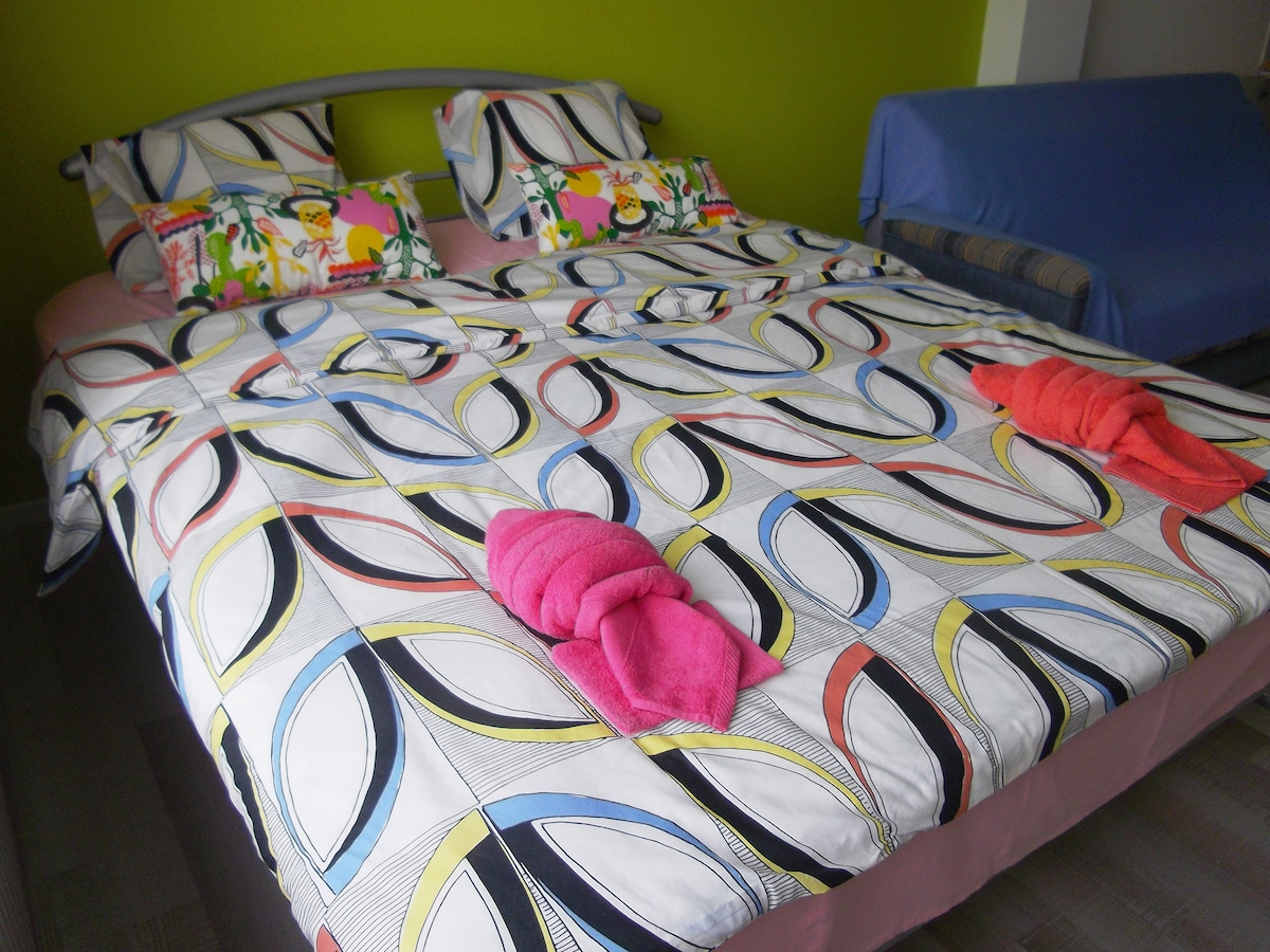 We provide cleaned sheets and towels