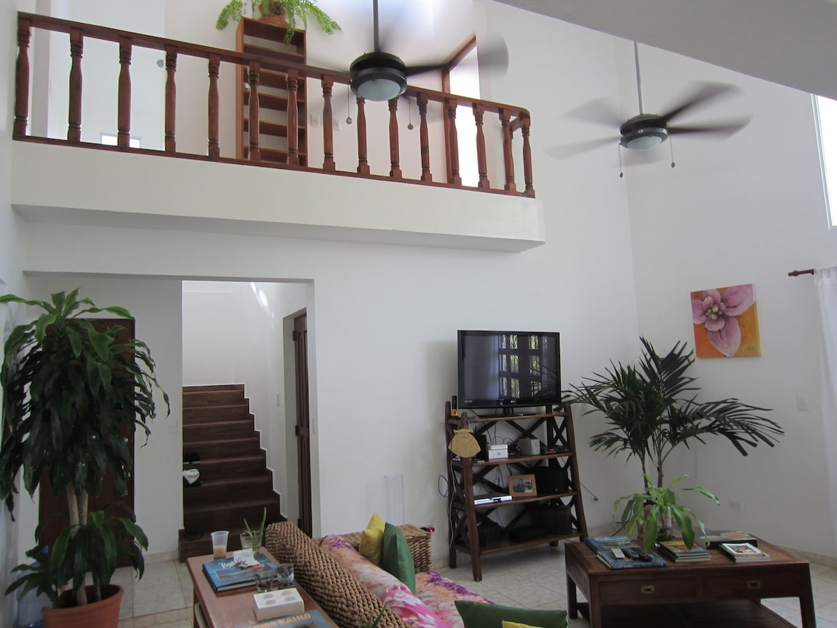 Living room, view to second floor