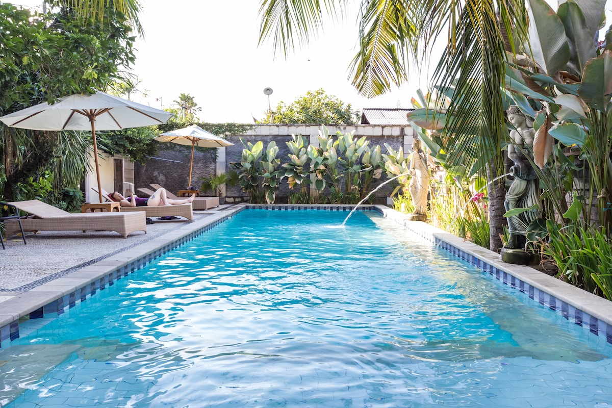 The Swimming Pool is just 5 meters from the villa.