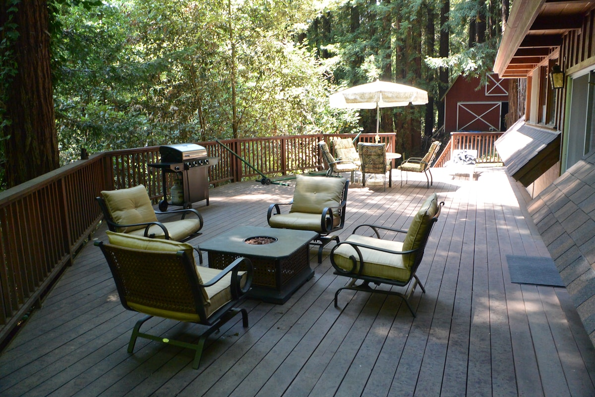 Enjoy our new BBQ and relax on the large deck! But sorry no open flames, including the fire pit, due to fire hazard.