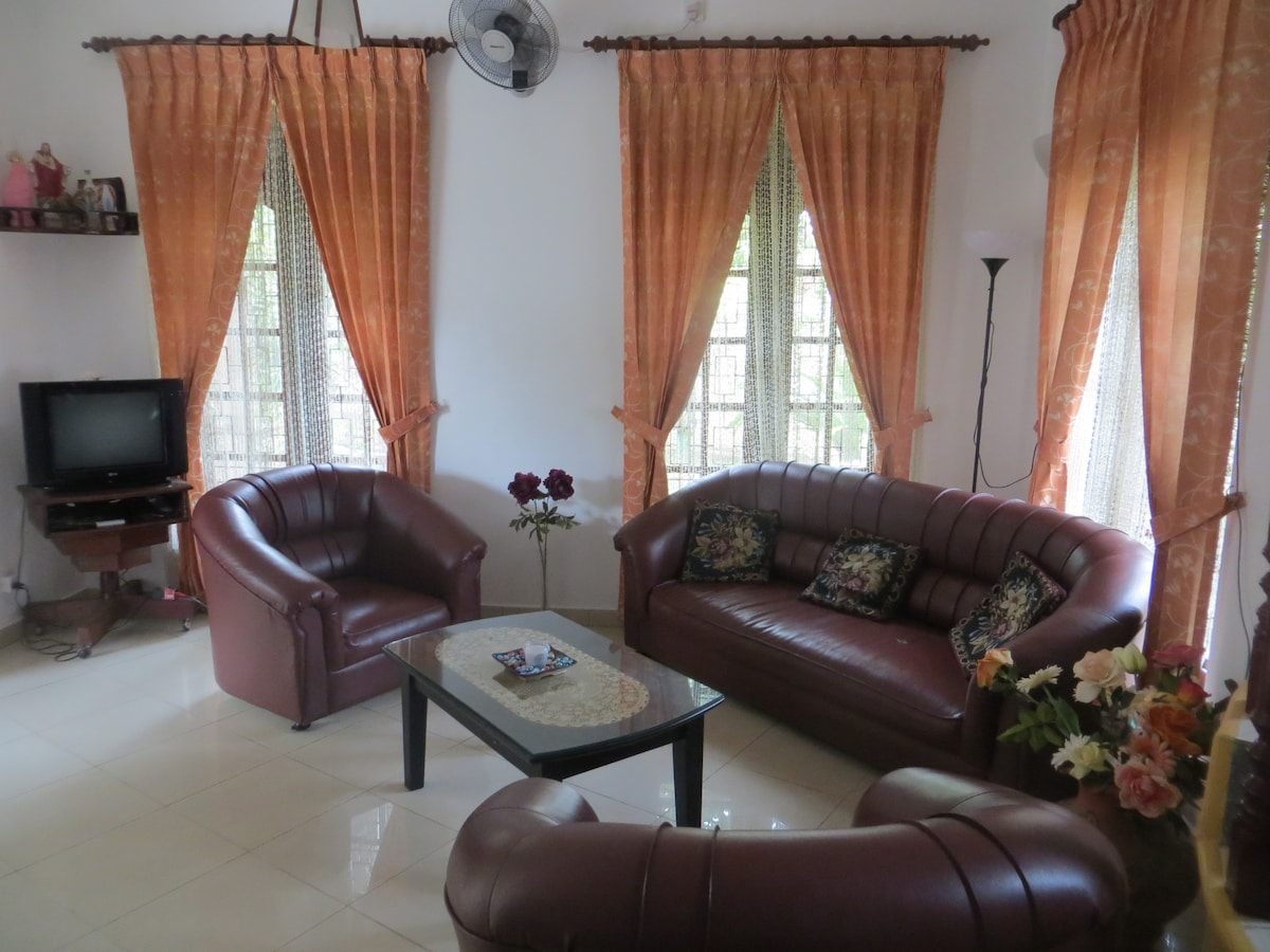 Living room with homely comfort.