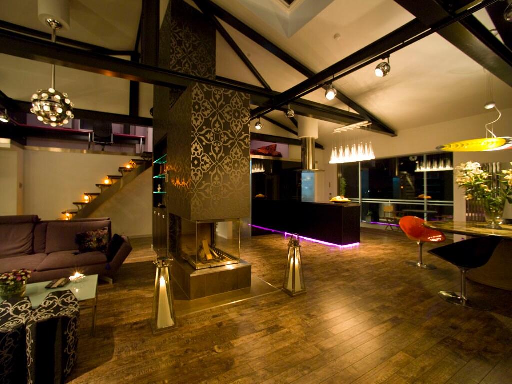 Top floor design apartment