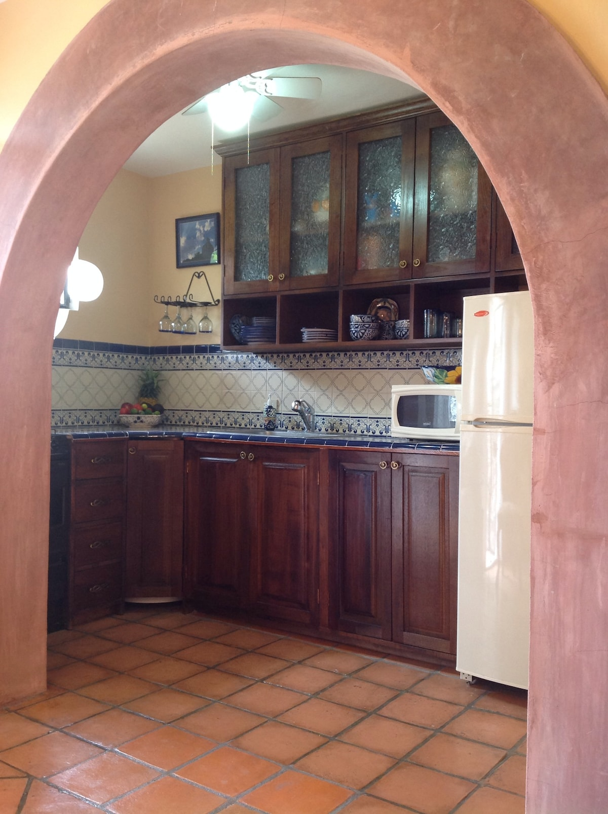 The kitchen is open for guests' use, although the food is so good and cheap in San Miguel that it's hard to want to cook!