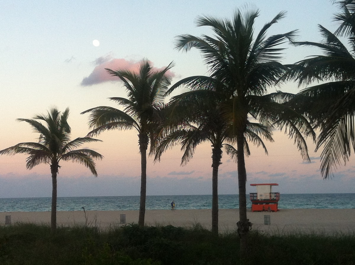 It's so easy to walk most everywhere in South Beach -- for miles along the beach along the promenade, up to Lincoln Road, or all along Ocean Drive. Shopping, and services like supermarkets and car rental are just a few minutes walk!