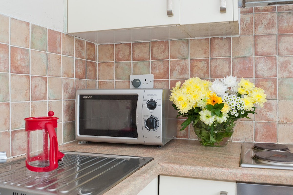 Fresh flowers and new appliances!