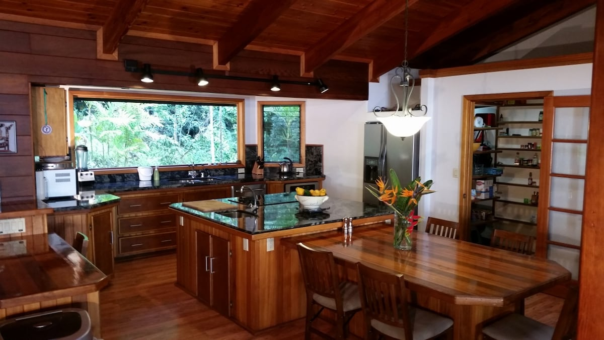 Cook's Kitchen with dishwasher, three sinks and 5 sq meters of granite workspace