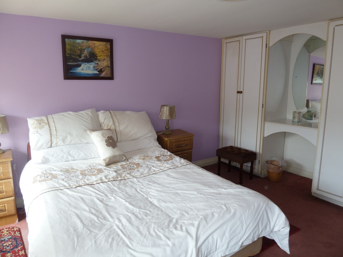 Large double room above local pub.