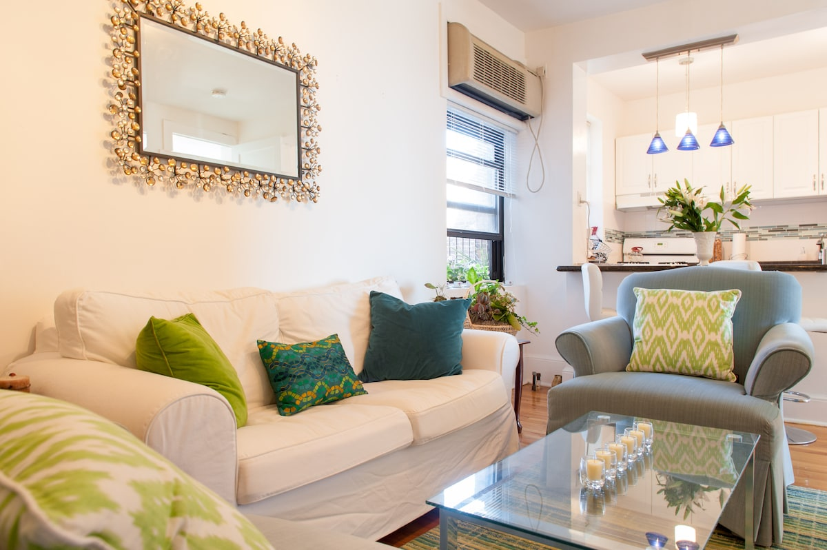 Stylish Room with Manhattan View
