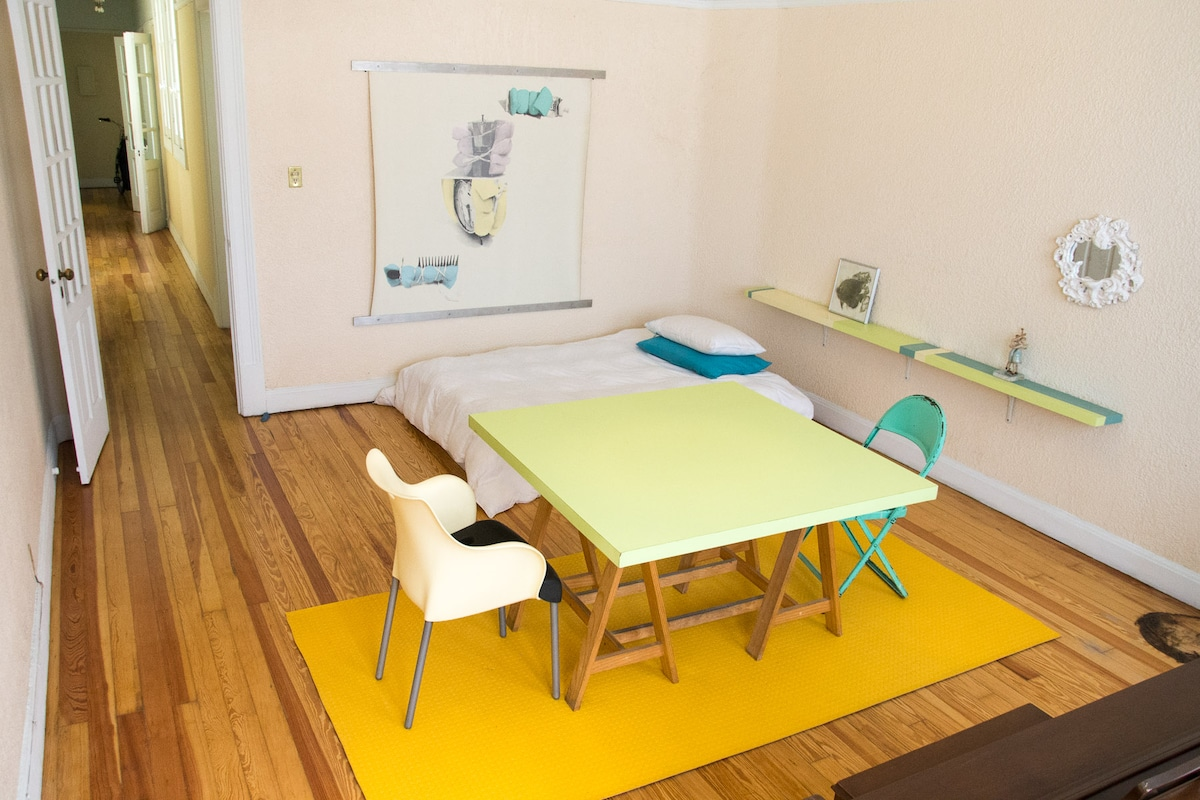 Bright and spacious private room.